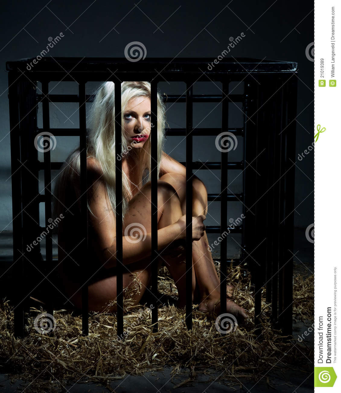 Photos nude females caged