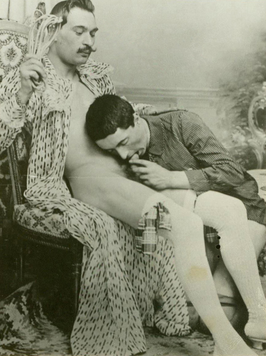 Victorian style oral sex painting
